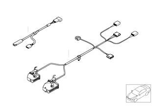 Set of cables, center armrest