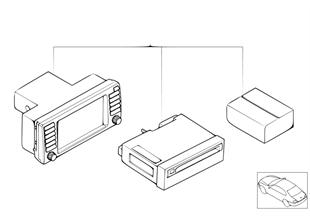 Retrofit kit, navigation with monitor