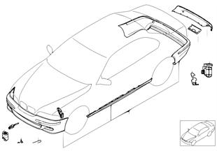 Kit aérodynamique M (à partir de 09/01)
