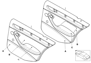 Individual rear door trim panel Q9