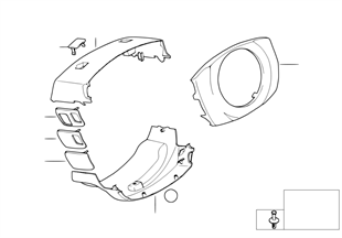 Steering column trim