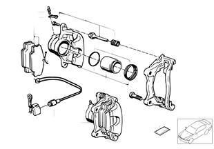 Vorderradbremse-Bremsbelag-Fühler