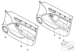 Quartela individual da porta dianteira