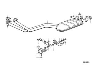 キャタライザー非装備車用排気装置