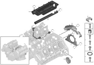 Zylinder-Kurbelgehäuse/Anbauteile