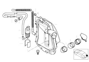 Детали омывателя заднего стекла