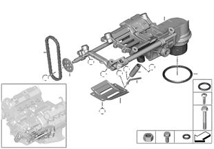 Ölversorgung/Ölpumpe mit Antrieb