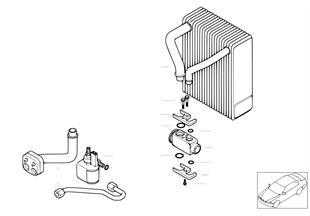 Evaporator, additional air conditioning
