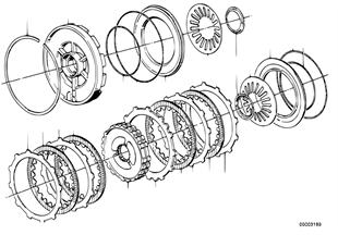 Zf 4hp22/24 brake clutch c/c'