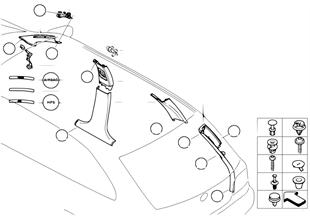 Trim panel A- / B- / C- / D-Column