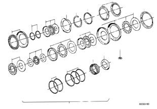 Zf 4hp22/24 ax-lager onderdelen
