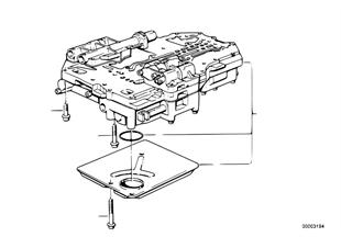 Zf 4hp22/24-h control unit+attach.parts