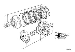 ZF 4HP22/24 Antriebskupplung B