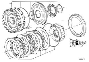 ZF 4HP22/24 Bremskupplung D