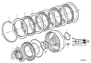 ZF 4HP22/24 Bremskupplung F