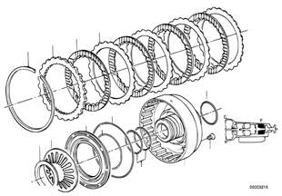 ZF 4HP22/24 ブレーキ クラッチ F