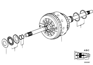 A5S560Z Antriebskupplung A/B/C