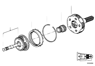 A5S560Z Planetenradsatz II + III