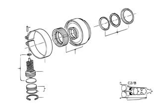 A5S310Z DRV クラッチ B/ブレーキバンドC2