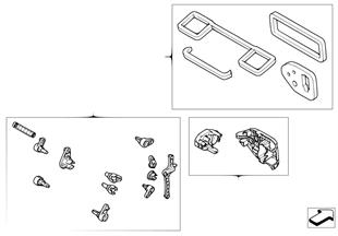 Satz Kleinteile Klimaautomatikgehäuse