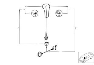 Retrofit kit, shift knob, leather illumi.