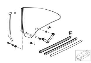 Mecanismo do vidro da porta traseira