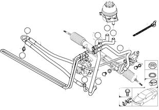 Hydr. układ kier./przewody oleju