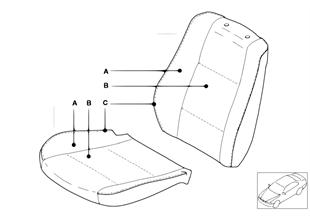 Indi. cover, base seat, Alcantara/Online