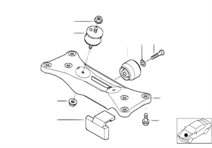 Getriebeaufhängung/Automatikgetriebe