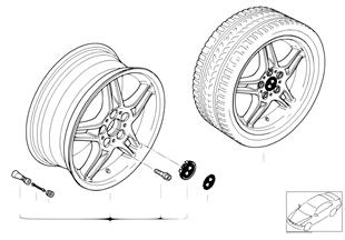BMW 경합금 휠,더블스포크 125