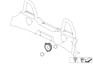 Altoparlante posteriore Stereo System