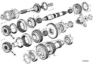 Getrag 262 齒輪副-維修套件