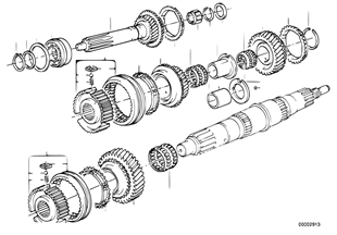 Getrag 240 gear wheel set, single parts
