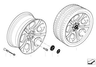 BMW LA wheel, ellipsoid styling 107