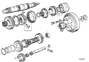 Getrag 260/6 gear wheel set, sing parts