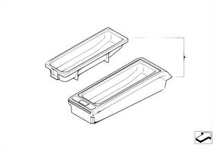 Single parts, SA 644 center console