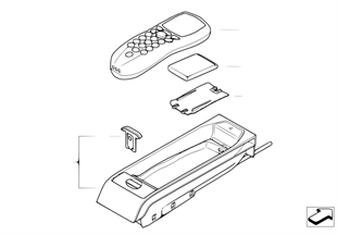 Single parts, SA 638, center console