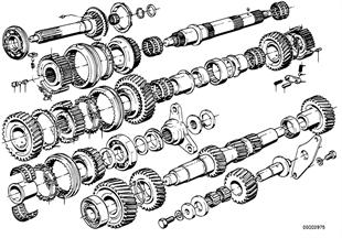 Getrag 265/6 gearset parts