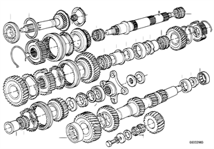 Getrag 245/2/4 Radsatzteile/Wälzlager