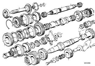 Getrag 245/2/4 Radsatzteile/Rep.Sätze