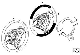 Individ. sportstuurwiel, airbag, SA 206