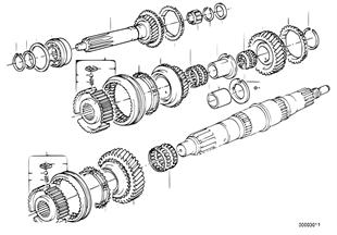 Getrag 260/5/50 Детали блока шестерен