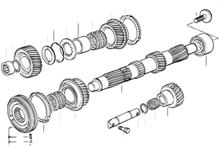 S5D...G countershaft/reverse gear