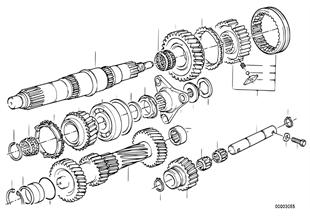 Getrag 240 gear wheel set, single parts