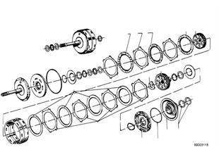 ZF 3HP12 Antriebskupplung A/B