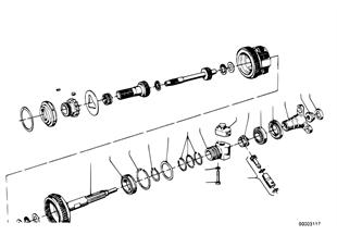 ZF 3HP12 Abtrieb/Tachoantrieb