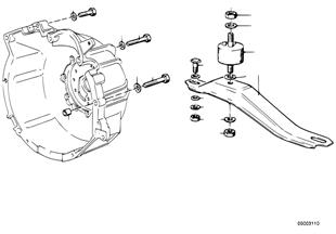 Suspension/fixation de boite de vitesses