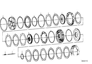 ZF 3HP12 Bremskupplung C/C'/D