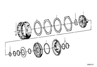 Zf 3hp20 embrague de impulsion a/b