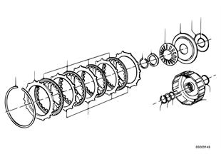 Zf 3hp22 embrague de impulsion b
